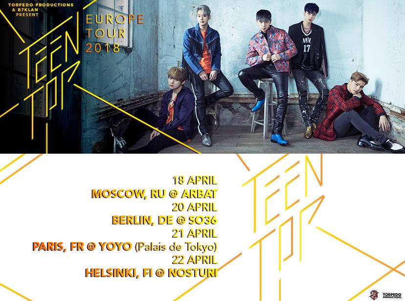 teen top tour europeo